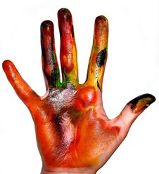 Free Painting Hands Stock Image - 13899061