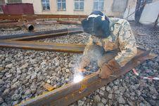 Free Welder In Mask Welding Construction Stock Photos - 13899203