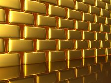 Free Gold Wall Stock Image - 13899461