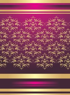 Free Golden Ornament. Background For Wrapping Royalty Free Stock Photos - 13899988