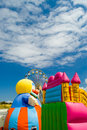 Free Fairground Amusements And Clouds Stock Photos - 1391153