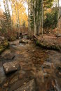 Free Creek In Fall With Aspens 8 Stock Images - 1391674