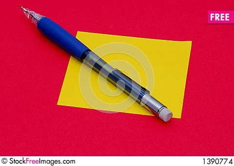 Free Pencil And Note Stock Images - 1390774
