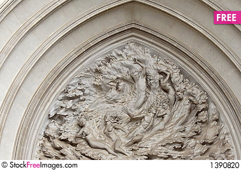 Washington National Cathedral Overhead Door Sculpture & Washington National Cathedral Overhead Door Sculpture - Free Stock ...