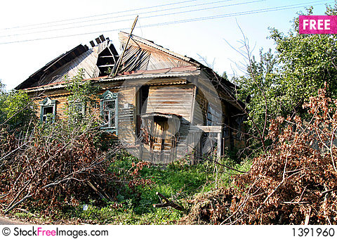 Ruinous Country House 1 Stock Photo