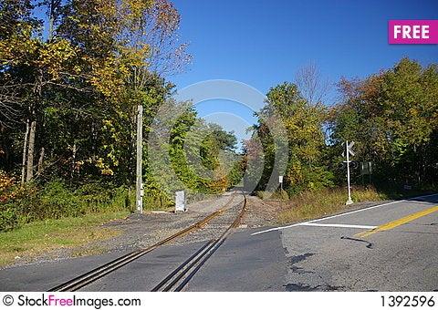 Free Rural Rail Road Crossing Royalty Free Stock Image - 1392596