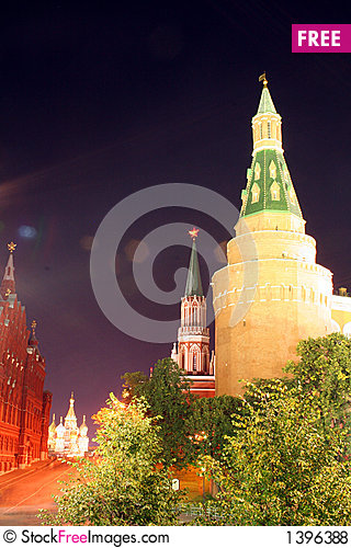 Moscow at Night 11 Stock Photo