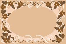 Beige Floral Background Stock Image