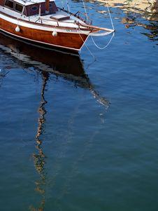 Boat Reflection Stock Image