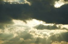 Free Black Clouds Royalty Free Stock Image - 1391356