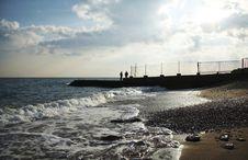 Free Evening On The Sea Coast Stock Image - 1391501