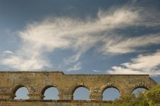 Free Ancient Roman Aqueduct, The Pont Du Gard, France Royalty Free Stock Photos - 1391598