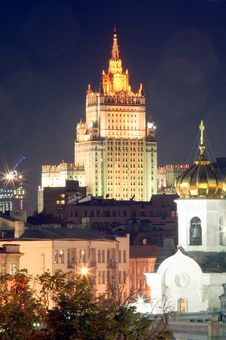Free Moscow At Night 5 Stock Photography - 1391762