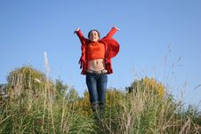 Free Jump Girl Royalty Free Stock Photography - 1391947