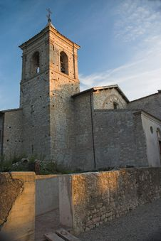 Free Abbazia Di Sassovivo In The Evening Light. Stock Photo - 1392120