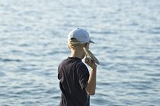 Free The Boy On The Sea Stock Images - 1392484