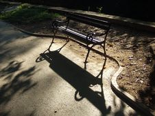 Free Backlight Bench Royalty Free Stock Photo - 1393115
