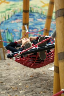 In Hammock - Resting Time Royalty Free Stock Image