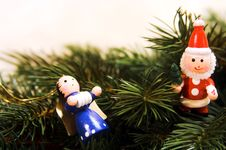 Free Traditional German Christmas Ornaments Royalty Free Stock Photo - 1394575