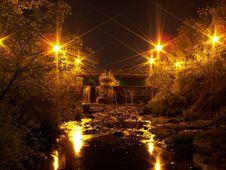 Twin Lakes Bridge Stock Photography