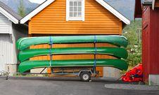 Free Canoes Stock Image - 1395901