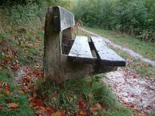 Free Isolated Country Bench Royalty Free Stock Photos - 1396148