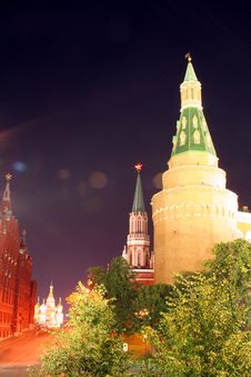 Free Moscow At Night 11 Royalty Free Stock Photos - 1396388