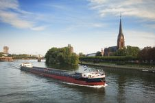 Main River Barge Royalty Free Stock Images