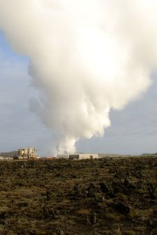 Heating Plant In Iceland Stock Image