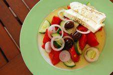 Free Fresh Greek Salad Royalty Free Stock Photo - 1398545