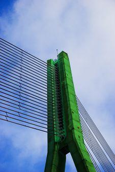 Green Cable Bridge Stock Photos