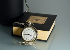 Free Pocket Watch And Book (polloq) Royalty Free Stock Photo - 1398835
