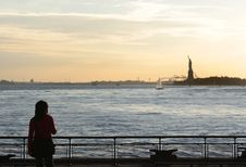 Free Admiring The Statue Of Liberty Stock Photography - 1399982