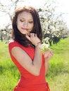 Free Girl In Spring Garden Stock Images - 13900424