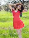 Free Girl In Spring Garden Stock Photography - 13900442