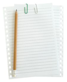Free Two Pages With Paper Clips Royalty Free Stock Photo - 13900405