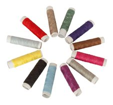Free Colored Spools Of Threads Royalty Free Stock Photo - 13900665