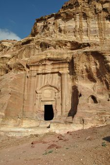 Free Petra Tomb, Jordan Royalty Free Stock Photo - 13900925