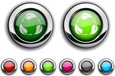 Recycle Button. Stock Photos