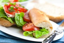 Sandwiches With Fresh Vegetables Stock Image