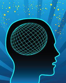 Globe In Head Stock Photos