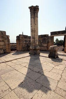 Free Capernaum Synagogue Royalty Free Stock Photos - 13901488