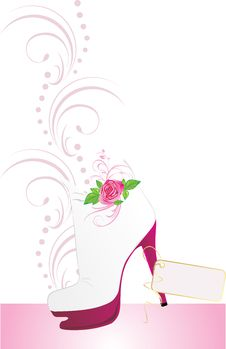 Free Elegant Female Shoes With Sticker Stock Photo - 13901720