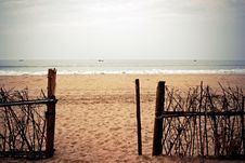Free Gate To The Sea. Stock Image - 13901881