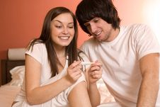 Free Boy And Nice Girl With Thermometer Royalty Free Stock Photos - 13901978