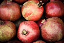 Free Few Red Mellow Pomegranates In Range. Stock Photography - 13902282