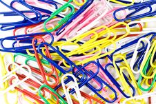 Free Heap Of Colourful Paper Clips Stock Photography - 13902412