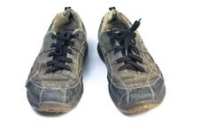 Old Sports Shoes. Royalty Free Stock Photography