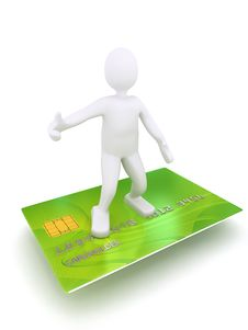 Free 3d Person On Credit Card Stock Images - 13903264