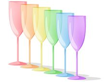 Free Spectrum Of Rainbow Glasses Stock Photography - 13903312